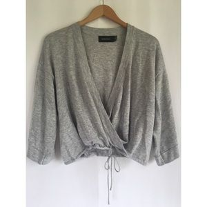 MinkPink Her Story Wrap Front Sweater